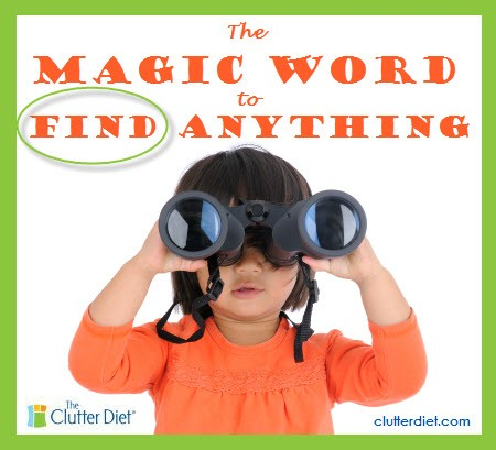 How to Find Anything- The magic word