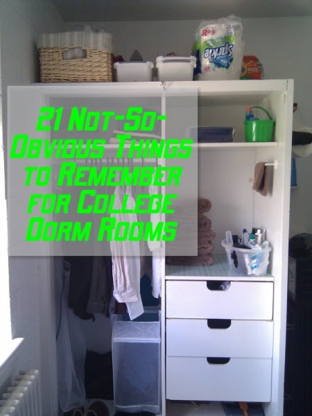 21 Not-So-Obvious Things to Remember for College Dorm Rooms